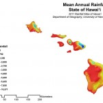 Mean annual rainfall Hawai'i